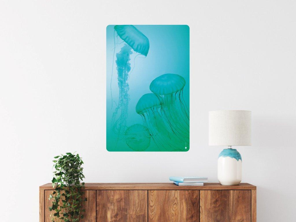 meduzy zasnene plakat samolepici interier