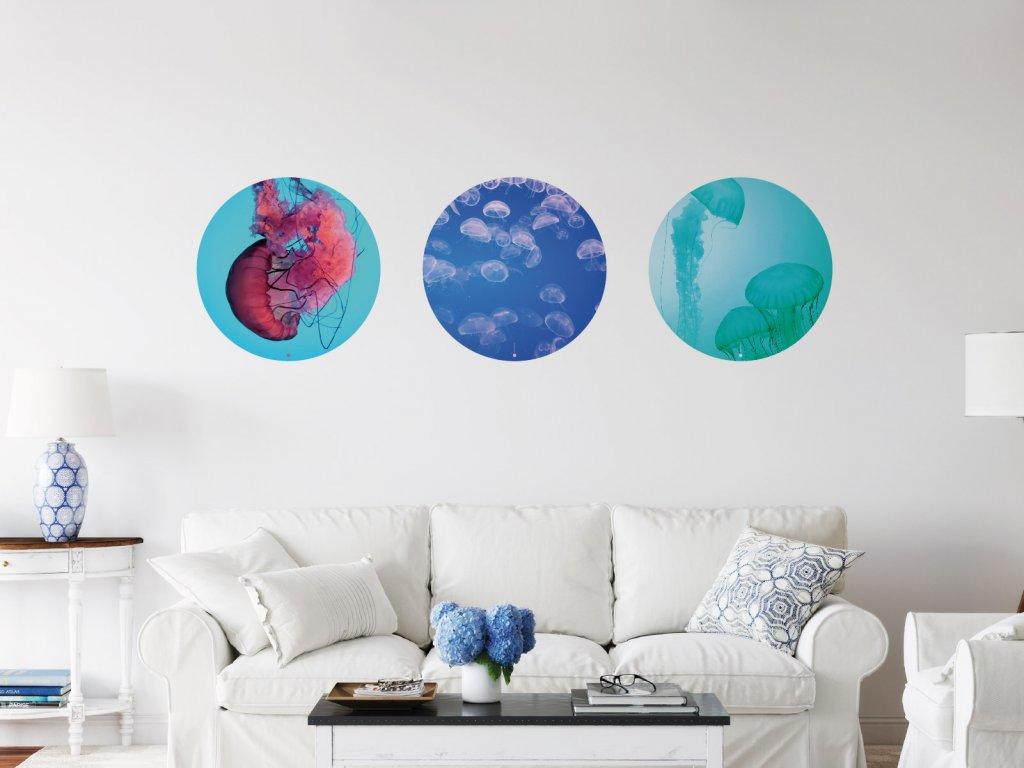 tri kruhy ukazka kombinace interier