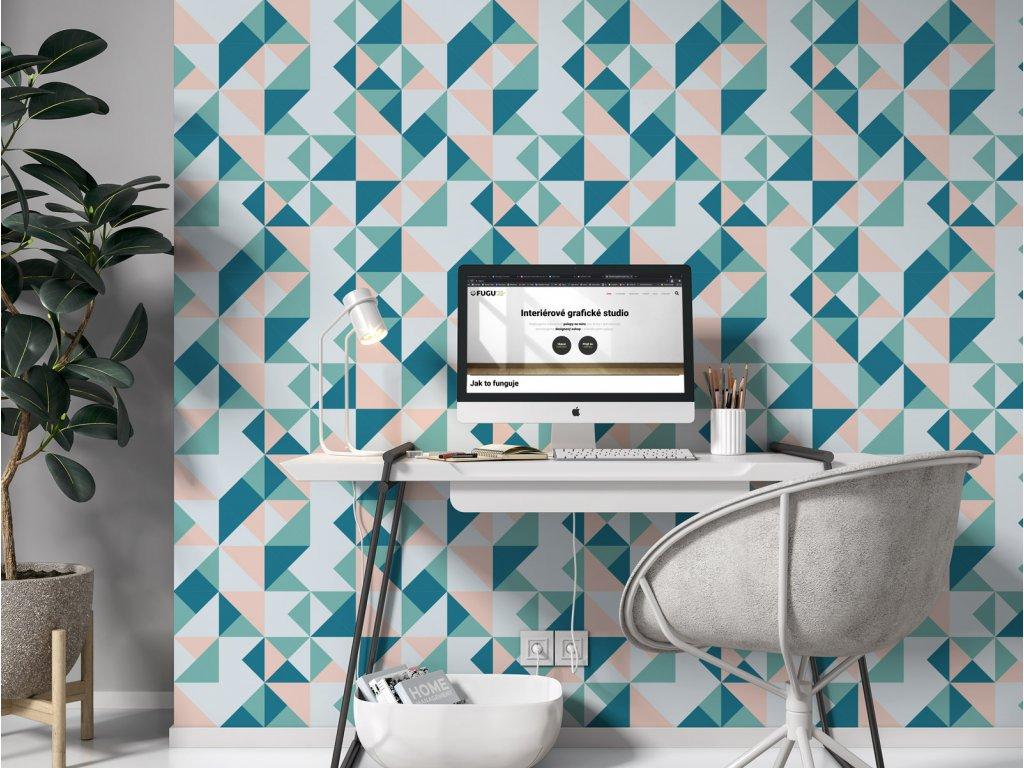 moderni tapeta na zed chrome disco fresh interier