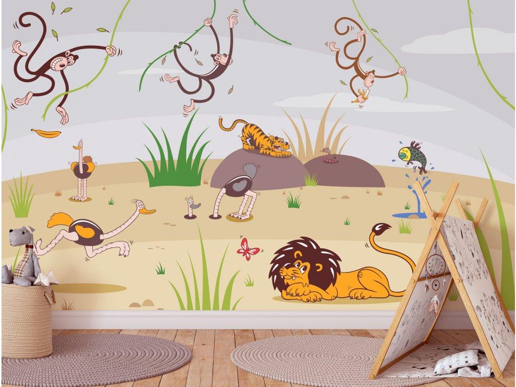 tapeta pro deti afrika safari