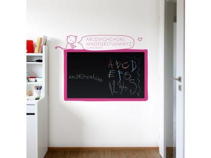 cerna samolepici tabule na zed s abecedou do divciho pokoje