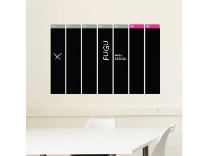 samolepici tabulovy kalendar tydenni velky cerny popisovatelny