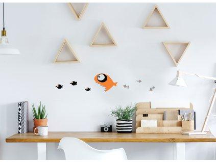 samolepka na zed pirana na stene v pracovne