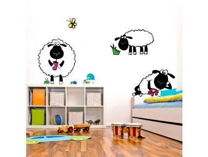 detske samolepky na zed ovce