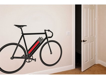 samolepka na stenu bike dont drive kolo vedle dveri