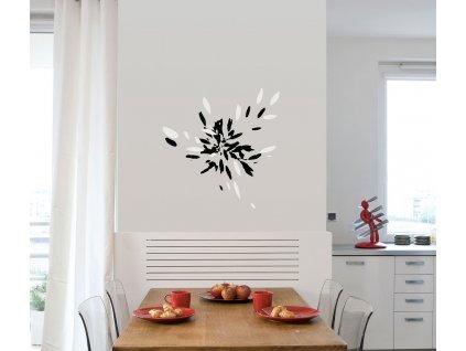 vinylova samolepka na zed kvetouci trava na stene v kuchyni