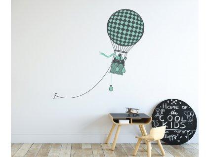 nalepka na zdi v detskem pokojicku serie sky wars letaci balon