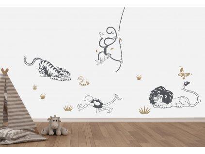 dekorace na zed afrika do detskeho pokoje