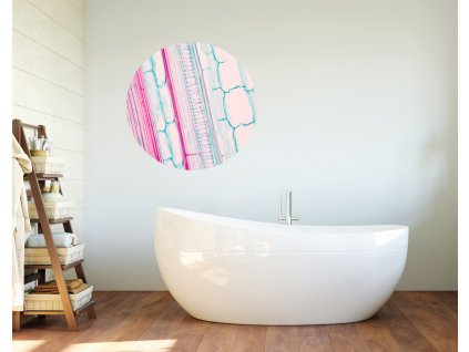 pink in prelepovaci designovy kruh ruzova fugu phototex polep na stene v koupelne