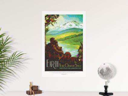 samolepici plakat premistitelny nasa earth