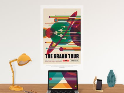 designovy samolepici plakat z phototexu the grand tour
