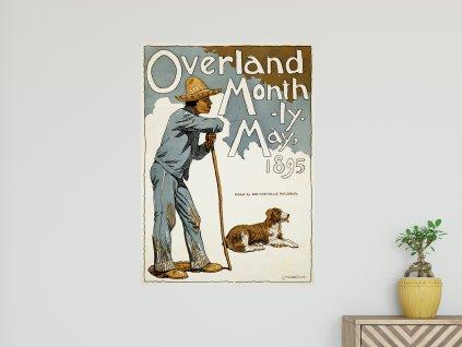 samolepici plakat obalka casopisu overland monthly
