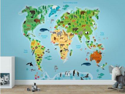 detska mapa sveta tapeta samolepici eko folie