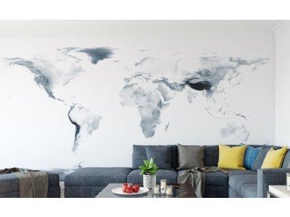 samolepici eko tapeta topograficka mapa sveta 01