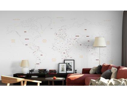 politicka mapa sveta samolepici eko tapeta 01