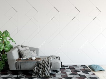 designova samolepici tapeta v interieru cubic