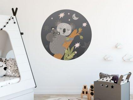 samolepka na zed eko mama a mimi koala