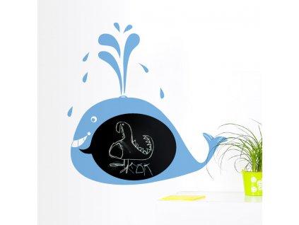 cerna samolepici detska tabule velryba