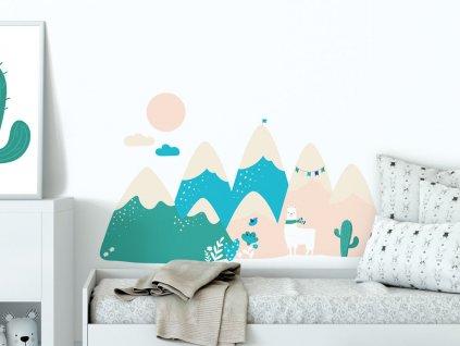 samolepici dekorace na zed expedice aconcagua samolepka v detskem pokoji