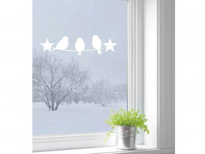 samolepky na zed tri ptacci