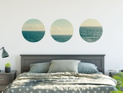 samolepky na zed more kruhy na lodicce