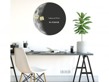 samolepici tabule moon black white wall