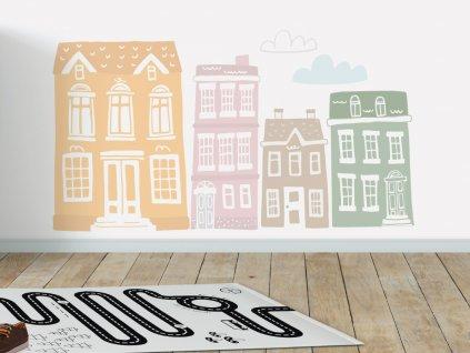 detske eko samoleky na zed domecky pastel