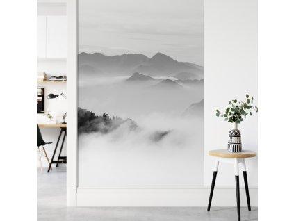 hory mraky obrazova tapeta samolepici pruh plovouci hory seda viz