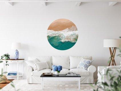 samolepici dekorace na zed kruh the artist ocean
