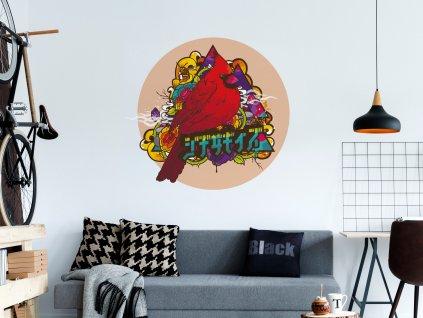 samolepici obraz na zed designovy temper tamper na fotce