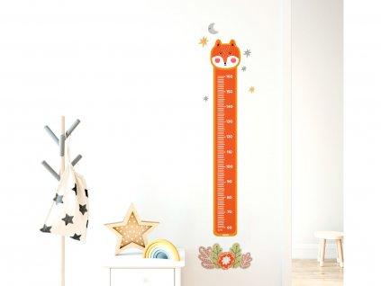 detsky metr na zed samolepici liska