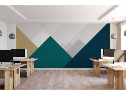 zapad kruznice za trojuhelniky office zelena