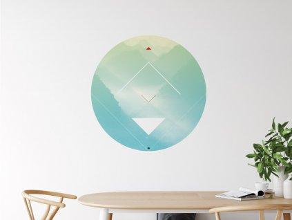 designova samolepka na zed energy mountains interier