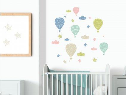 balony balonky prelepovaci samolepky na zed