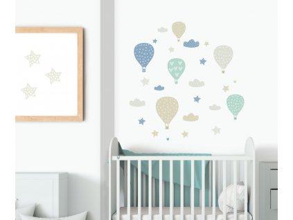 balony prelepovaci samolepky na zed pro kluky