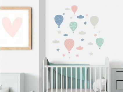 balony prelepovaci samolepky na zed pro deti