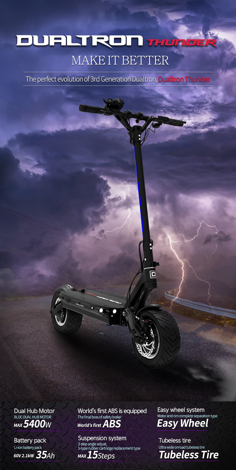 Dualtron Thunder specifications