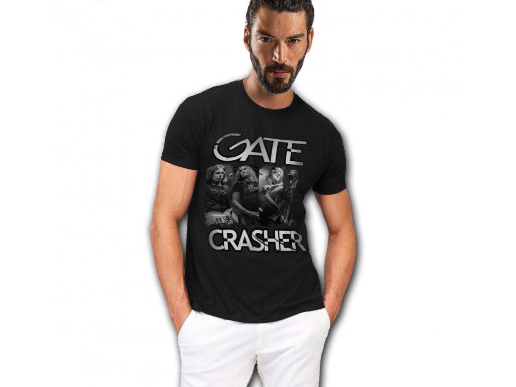 pánské triko fotka GATE Crasher černé