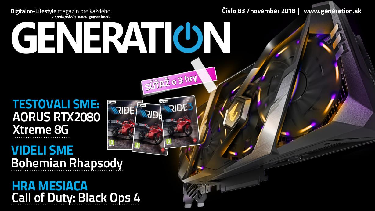 Novembrové číslo magazínu Generation