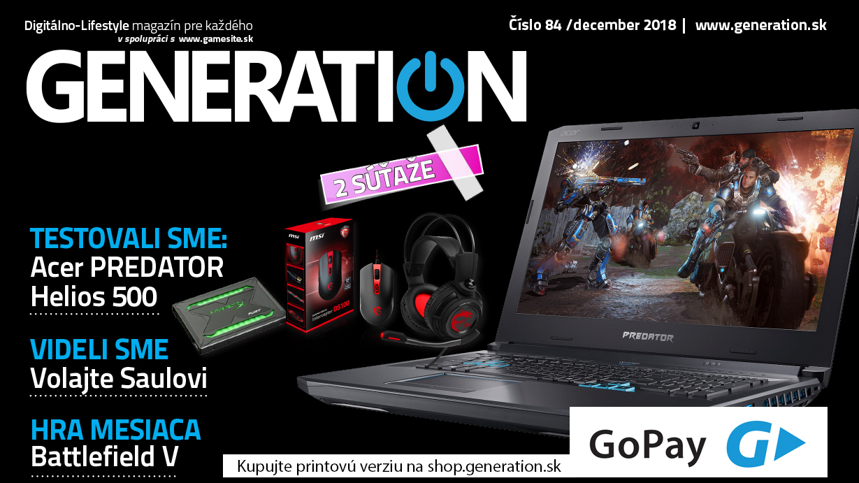 Decembrové vydanie magazínu Generation