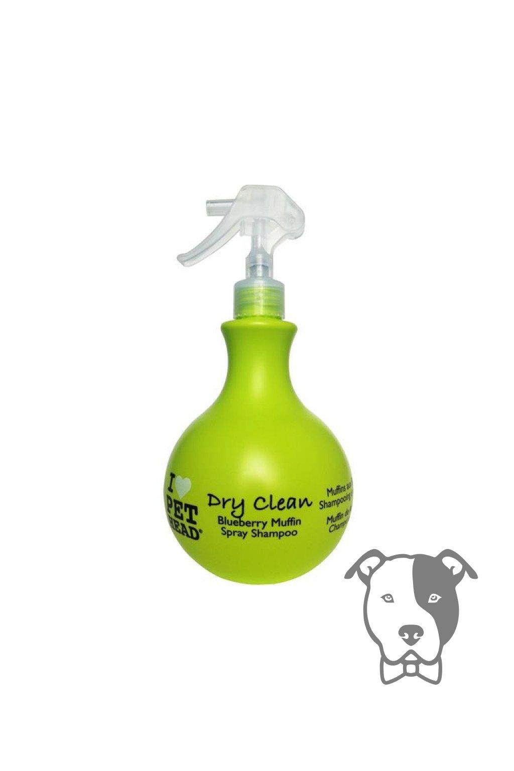 Suchý šampon s vůní borůvkového muffinu 450ml - Pet Head