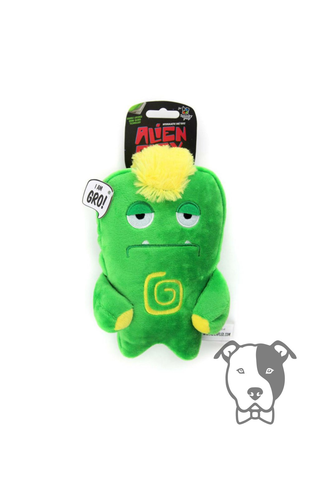 spunky pup alien flex plush dog toy bubu 2308