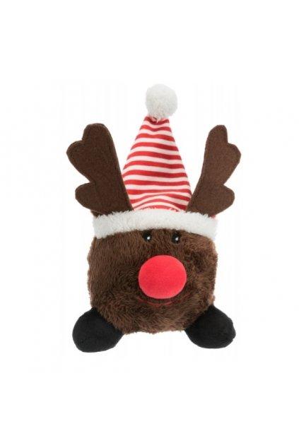 Vánoční plyšový míček sob Rudolf 23cm - Trixie