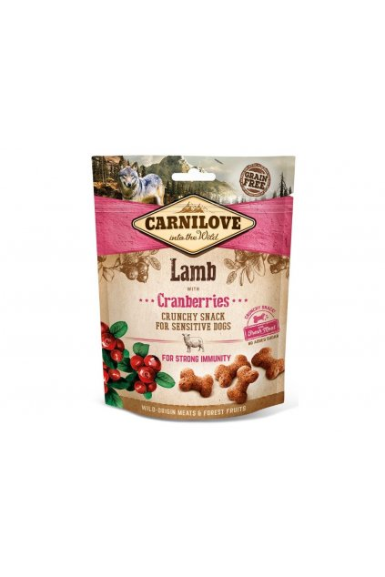 4262 5235 carnilove dog crunchy snack lamb cranberries 200g