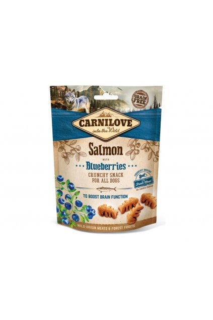 4274 5244 carnilove dog crunchy snack salmon blueberries 200g