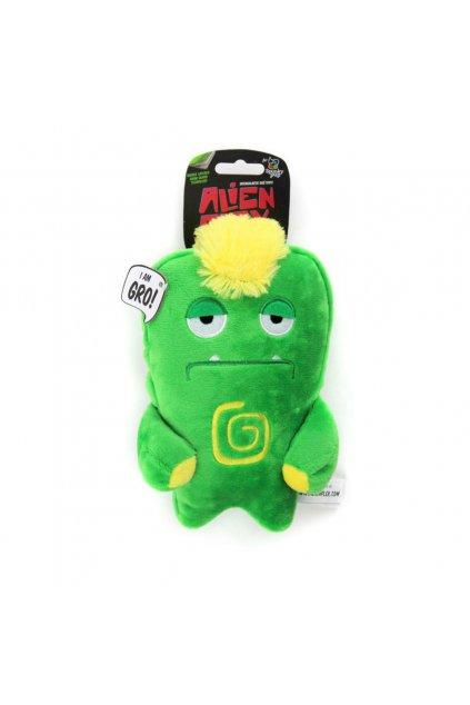 spunky pup alien flex plush dog toy bubu 2308
