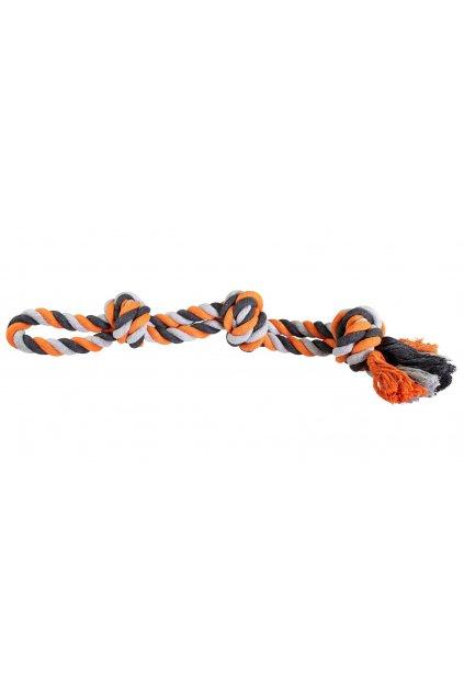 Hračka lano velká 3 uzly 60cm - HipHop