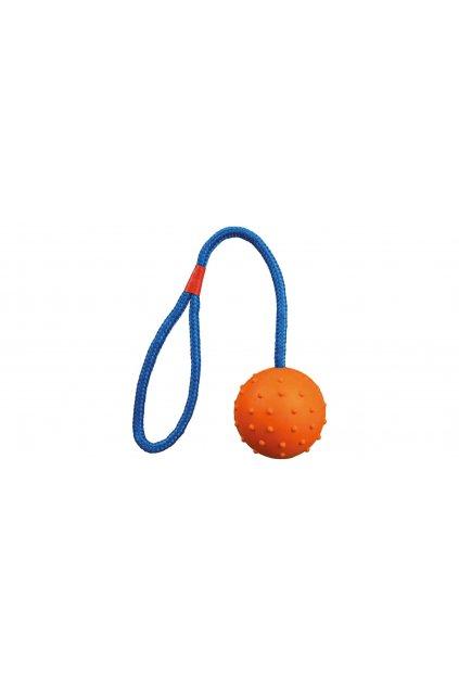 Vrhací míč hrbolatý na šňůře 30cm - Trixie