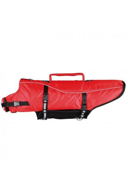Záchranná plovací vesta pro psa, červená, reflexní - Trixie