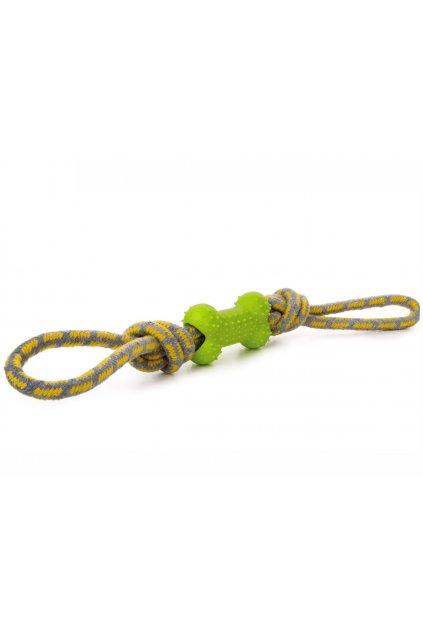45998 1 jk animals bavlnene pretahovadlo tpr kost 40 cm zelene 1